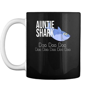 """Auntie Shark"" Baby Mommy Daddy Matching Family Shark  Mug"