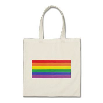 Painted Rainbow Flag Tote Bag
