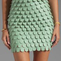BLAQUE LABEL Faux Leather Skirt in Mint