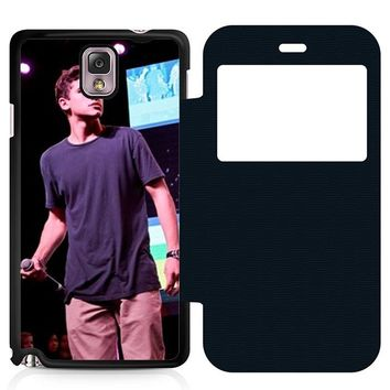 Jack Gilinsky Perform Leather Wallet Flip Case Samsung Galaxy Note 3