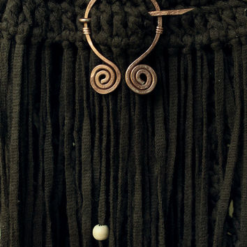 Celtic pin • Viking fibula • Medieval brooch • Viking shawl pin • Celtic brooch • Shawl pin • Hammered viking pin • Scarf brooch  • Pagan