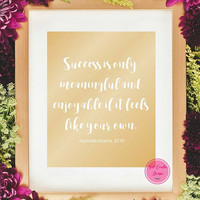 50% Off Sale-Inspirational Wall Art,Michelle Obama,Instant Download,Digital Wall Art,Gold Foil Typography Art,Quote Art Prints, Flotus