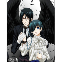 Black Butler Ciel Wings Poster