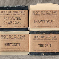 Manly Man Soap Set - Natural Soap - Handmade Soap - Unscented Soap - Vegan Soap - Mens Gift Set