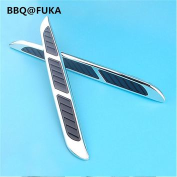 BBQ@FUKA 2pcs Auto Car Side Air Flow Vent Fender Decorate Sticker Fit For Chevy Jeep Compass Nissan Car Styling Car Accessories