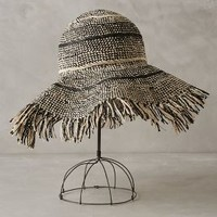 Derinda Sun Hat by Anthropologie Black & White One Size Scarves