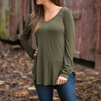 Fundamental Fun Top, Olive