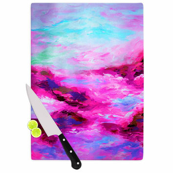 "Ebi Emporium ""Taken By The Undertow 4"" Pink Magenta Cutting Board"