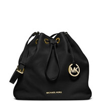 Michael Michael Kors Large Jules Drawstring Leather Shoulder Bag