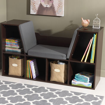 KidKraft Espresso Bookcase & Reading Nook | zulily