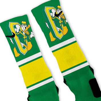 Oregon Ducks Retro Throwback Custom Nike Elite Socks