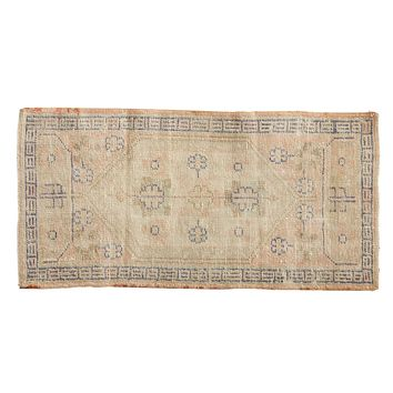 2x4 Vintage Distressed Oushak Rug Runner