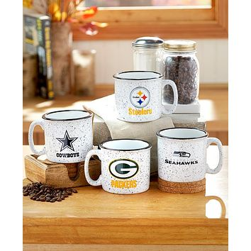 Official Licensed NFL Fan Campfire Stoneware Mug Unique Camping Gear Gift Idea