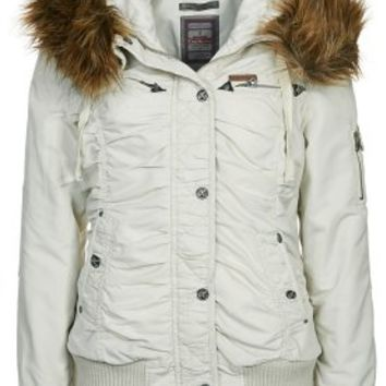 Dreimaster Winter jacket - white - Zalando.co.uk