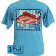 J. Fowl Co. Red Snapper Authentic Pigment Blue Unisex Bright T-Shirt