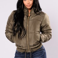 Moonwalk Puffer Jacket - Olive