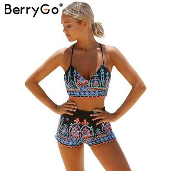 ONETOW BerryGo Embroidery flower elegant jumpsuit romper Sexy 2017 beach v neck strap summer jumpsuit women outfit playsuit overalls