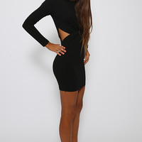 Let's Knot Dress - Black
