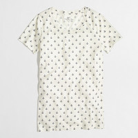 Factory ivory anchor collector tee - short sleeve - FactoryWomen's Knits & Tees - J.Crew Factory
