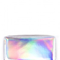 OBLIVION HOLOGRAPHIC PRISM ZIP AROUND PURSE