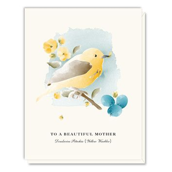 Mother's Day Warbler Card