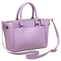 Solid Color Double Handle Tote Handbag Cross Body Shoulder Bag