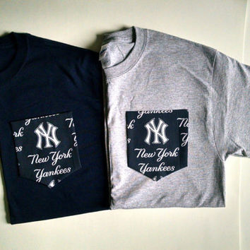 MLB-New York Yankees- Pocket T-Shirt- Adult Unisex