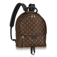 DCCK Authentic Louis Vuitton Monogram Canvas Palm Springs Backpack MM Handbag Article: M41561 Made in France