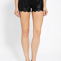 Urban Outfitters - B.P. Collection Lasercut Faux Leather Short