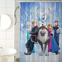 disney frozen custom shower curtain by jedingwatukali