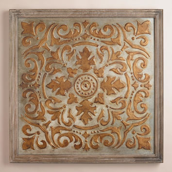 Gold Medallion Mirrored Wall Panel - World Market