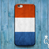 iPhone 4 4s 5 5s 5c 6 6s plus iPod Touch 4th 5th 6th Generation Blue Orange White Country Flags Holland Dutch European Flag Case Phone Cover