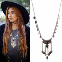 ≫∙∙Boho Summer Silver Layer Statement Vintage Necklace Trendy Jewelry  ∙∙≪