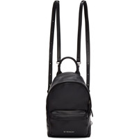 Black Leather Nano Backpack