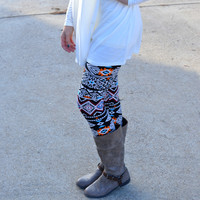 River Run Aztec Print Leggings