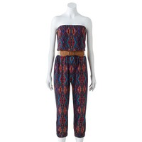 City Triangles Tribal Jumpsuit - Juniors