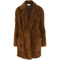 Faux Fur Coat By Unique**