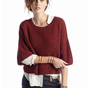 Free People Rayanne Shaker Sweater - Belk.com