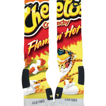 Custom Nike Elite Socks-Flamin Hot Cheetos