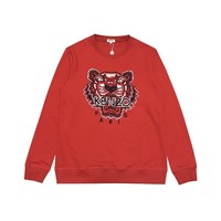 KENZO fashion new wild red black word tiger head embroidery round neck sweater