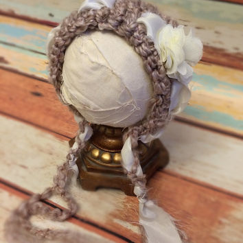 Crochet Baby Bonnet, Baby, Photography Prop, Photo Prop, Newborn, Bonnet, Newborn Bonnet, Spring, Shower Gift, Baby Shower, Baby Gift