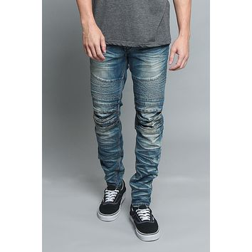 Creased Biker Denim Jeans DL1083 - V7C