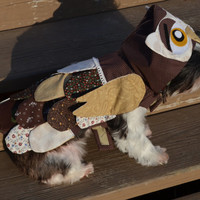 Custom made for a extra small to medium sized dog/pet Owl costume