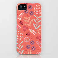 Little Ladybugs iPhone Case by Poppy & Red
