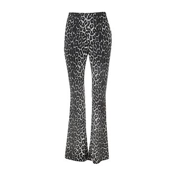 Rebel Soul Leopard Print Flared Bell Bottom Pants