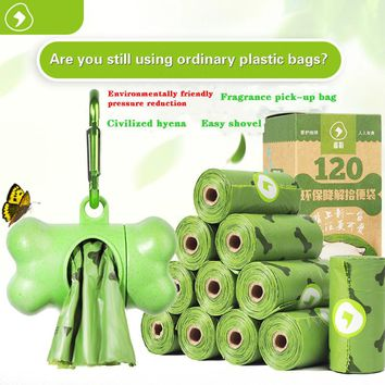 Pet garbage bag litter environmentally degradable dog poop thickened pick up