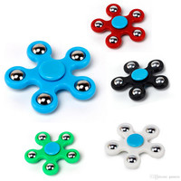 5 Steel Ball New Style Hand Spinner Fidget Toy Five Fingers Fingertips Tri Spinners HandSpinner Spinning Top ABS Decompression Toys DHL