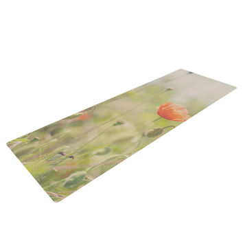 "Laura Evans ""Fields of Remembrance"" Green Orange Yoga Mat"