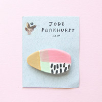 Oval Pattern Brooch by Jode Pankhurst