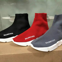 """""""Balenciaga"""" Fashion Casual Knit Stretch Thick Bottom High Help Shoes Sock Shoes Couple Sneakers"""